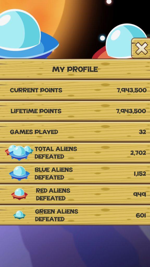 Stupid Aliens - Profile Screen